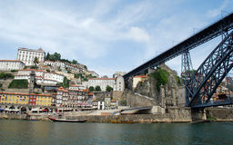Ribeira, Bridge and Douro river(Porto,Portugal) Stock Photo