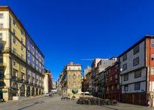 Ribeira brzeg rzeki kwadrat w Porto, Zdjęcie Royalty Free