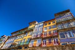 Ribeira coloured houses Stock Photos
