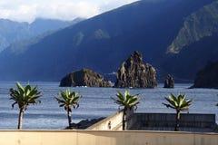 Ribeira da Janeiro rocks Madeira Stock Image