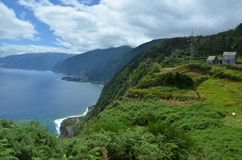 Ribeira da Janela viewpoint, Madeira royalty free stock photography