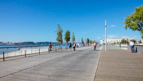 Ribeira das Naus in Lisbon Royalty Free Stock Image