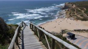 海滩Ribeira dIlhas 库存图片