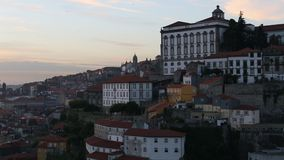 Ribeira District of Porto at sunset time, Portugal. Travel. stock footage