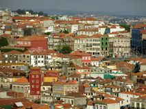 Houses Ribeira District in Porto Stock Photos