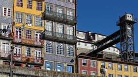 Ribeira do Porto colorful architecture Stock Images