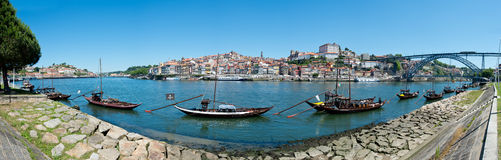 Ribeira do Porto Panorama Royalty Free Stock Image