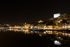 Ribeira at Duoro river in old downtown Port, Oporto, Portugal royalty free stock photography