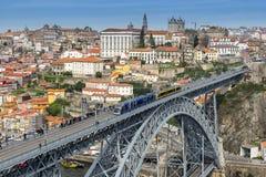 Ribeira et le pont de Dom Luis à Porto photos stock