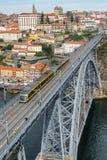 Ribeira et le pont de Dom Luis à Porto images libres de droits