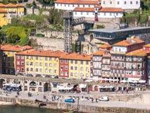 Ribeira Gekleurde Huizen stock afbeelding