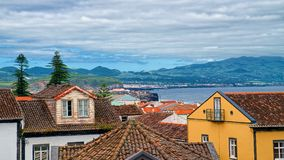 Ribeira Grande town, Sao Miguel island, Azores, Portugal Stock Images
