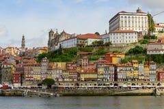 Ribeira, the historic center of Oporto Royalty Free Stock Photography
