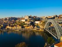 Ribeira na luz larga do dia, Porto, Portugal Fotos de Stock Royalty Free