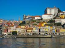 Ribeira na luz larga do dia, Porto, Portugal Imagens de Stock Royalty Free