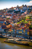 Ribeira of Oporto. Cityscape of Oporto downtown touristic Ribeira and traditional houses Royalty Free Stock Photography