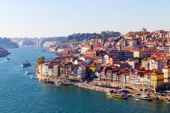 Ribeira Porto, Portugal Fotografering för Bildbyråer