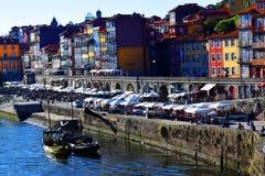 Ribeira in Porto, Portugal Royalty-vrije Stock Foto's