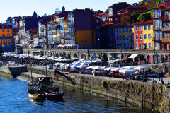 Ribeira in Porto, Portugal. The Ribeira in Porto is included in the historical centre of the city, designated World Heritage by Unesco royalty free stock photos