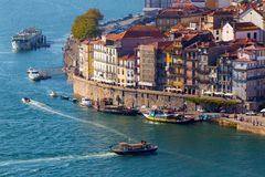 Ribeira, Porto, Portugalia Fotografia Royalty Free