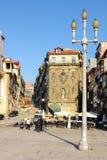 Ribeira vierkant in de oude stad. Porto. Portugal stock afbeelding