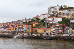 Ribeira view of oporto Stock Photography