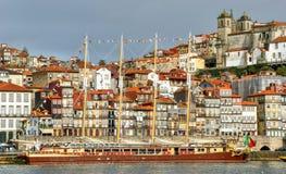 Ribeira view in Oporto stock photo