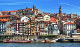 Ribeira view in Porto Stock Images