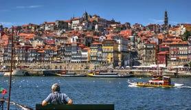 Ribeira view in Porto royalty free stock image