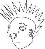 Ribelle del Mohawk della roccia punk   fotografia stock