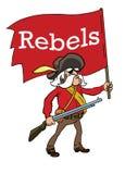 Ribelli con la bandiera rossa Immagini Stock