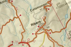 Ribera programma Le isole della Sicilia, Italia Immagini Stock