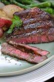 ribeye зажженное говядиной Стоковое Фото