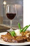 Ribeye de repas de bifteck Image libre de droits
