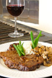 Ribeye and red wine Royalty Free Stock Image