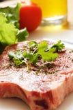 Ribeye steak. Seasoned ribeye steak ready for cooking Stock Photo