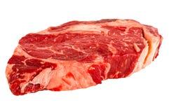 Ribeye steak. Isolated on white background Stock Image
