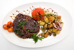 Ribeye steak from marble beef Royalty Free Stock Photos