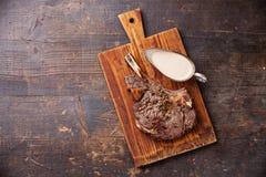 Ribeye Steak with pepper sauce Stock Image