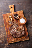 Ribeye Steak with salt and pepper Stock Photos