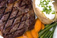 ribeyesteak Royaltyfria Bilder