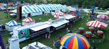 Ribfest - top view Stock Images