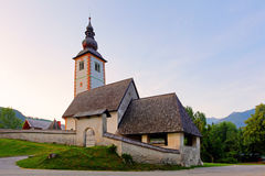 Ribicev Laz, touristic village on lake Bohinj Stock Photo