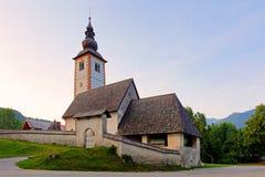 Ribicev Laz, touristic village on lake Bohinj. In national park Triglav, Slovenia Stock Photo