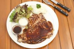 Riblapje vlees Stock Foto