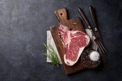 Riblapje vlees Royalty-vrije Stock Foto's