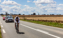 法国骑自行车者Riblon Christoph 图库摄影