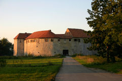 Ribnik Castle. Under the afternoon sun stock photo