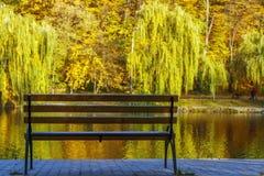 ribnjak för bänkcroatia park Royaltyfria Bilder