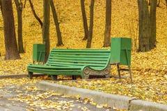 ribnjak för bänkcroatia park Royaltyfri Bild